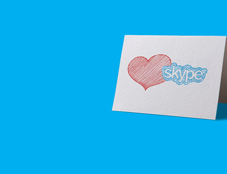 Affectueusement sign Skype