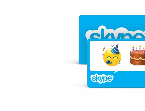 Cartes cadeaux Skype