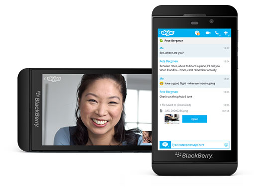Skype for BlackBerry, free video chat, messenger, chat and calls