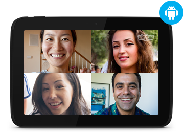 Skype pour tablettes Android