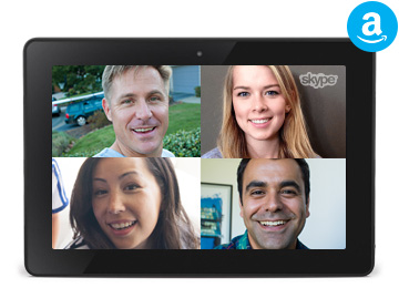 Skype Kindle Fire HD-le