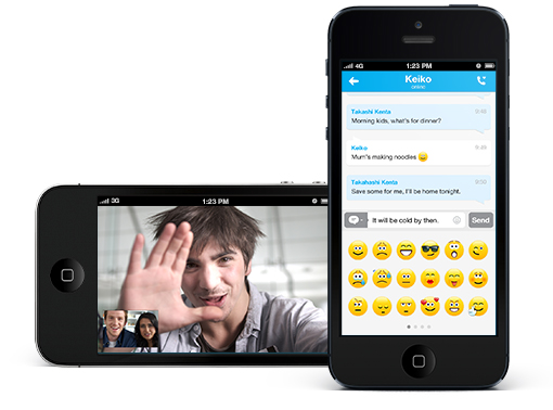 Skype iPhone'ile