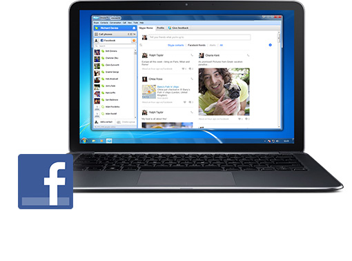 Skype&#39;tan Facebook