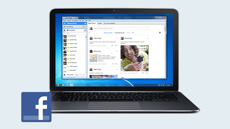 Skype-Facebook 