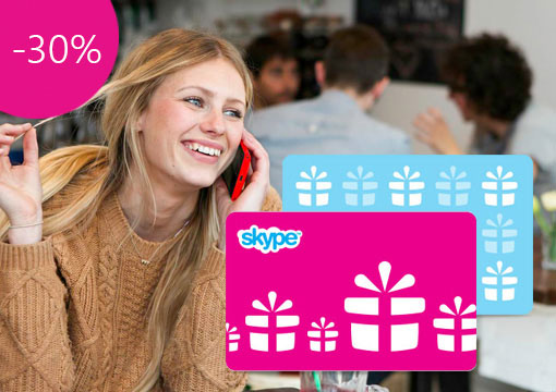 Gift Skype Credit — 30% off