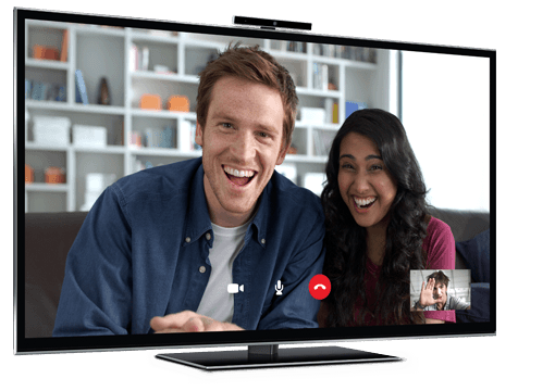 O Skype na TV