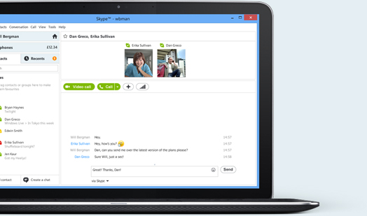 Now you can instant message, chat and call your Windows Live Messenger friends from Skype