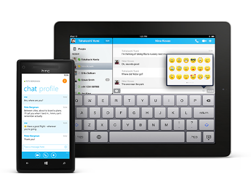 With Skype for your mobile and tablet, you can chat and video call your Windows Live Messenger friends from anywhere in the world
