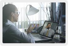 Skypeビデオ通話の画像