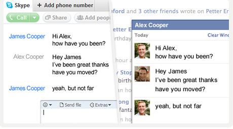 SkypeでFacebook